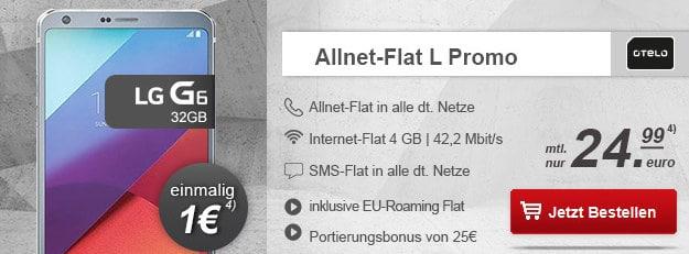 Lg G6 + otelo Allnet-Flat L modeo