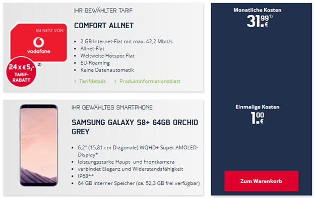 S8 Plus + Vodafone Comfort Allnet (md)