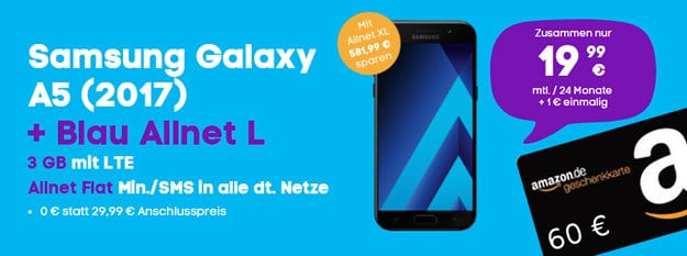 Samsung Galaxy A5 + Blau Allnet L Amazon