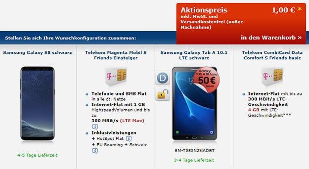 Samsung Galaxy s8 + Tablet Kombi-Deal
