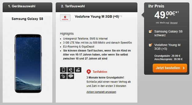 S8 + Vodafone Young M