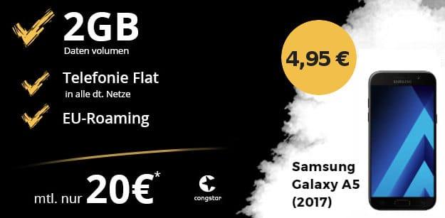 Samsung Galaxy A5 + congstar Allnet-Flat