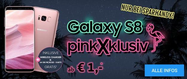 Samsung Galaxy S8 Pink + Vodafone Smart L Plus