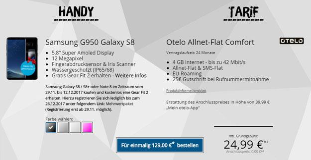 galaxy s8 otelo allnet-flat comfort