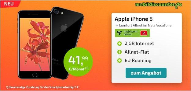 iPhone 8 + Vodafone Comfort Allnet (md)