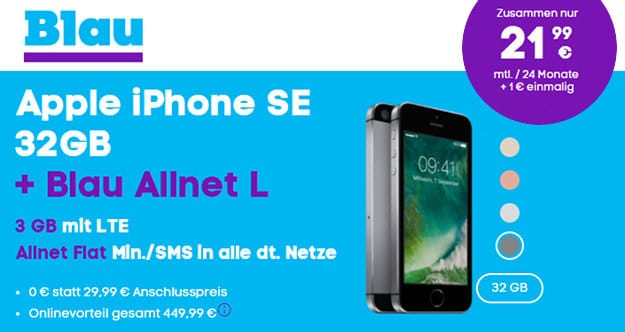 iPhone SE + Blau Allnet L