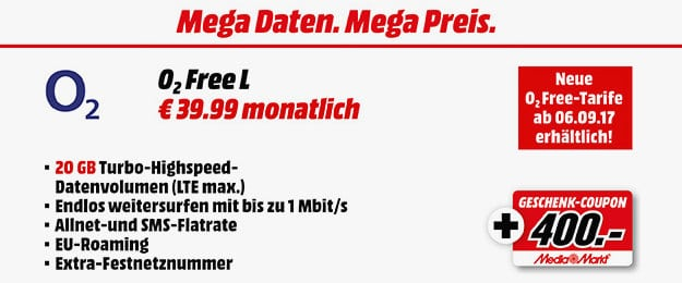 o2 Free L MM Gutschein