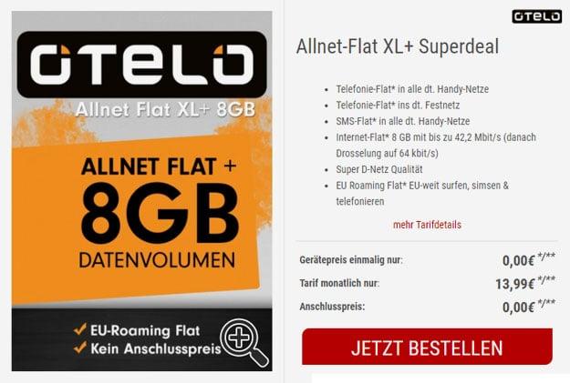 otelo allnet flat xl plus sim-only