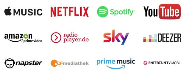 Telekom StreamOn, Musik-Streaming, Video-Streaming