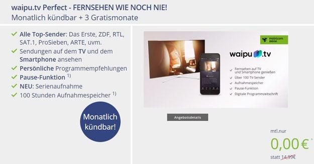 waipu tv kostenlos testen