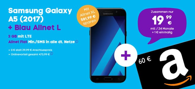 Galaxy A5 - Blau Allnet L + Amazon-Gutschein