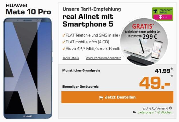 Huawei Mate 10 Pro + real Allnet Telekom
