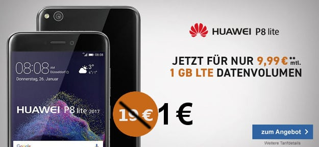 Huawei P8 Lite (2017) + o2 Smart Surf (md)