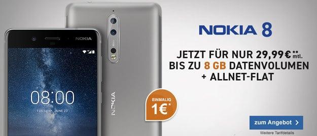 Nokia 8 + otelo Allnet-Flat XL Plus