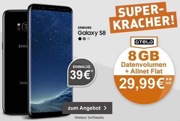 Samsung Galaxy S8 + otelo Allnet-Flat XL Plus