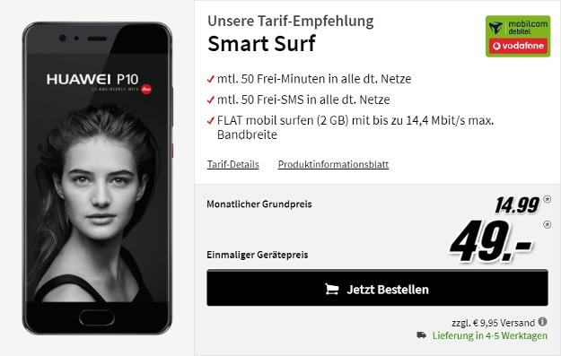 huawei p10 + vodafone smart surf md