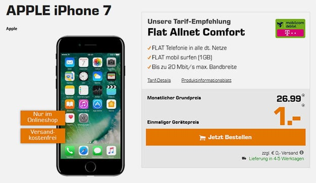 iphone 7 flat allnet comfort md telekom