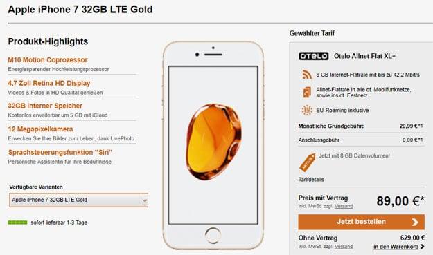iphone 7 otelo allnet-flat xl plus