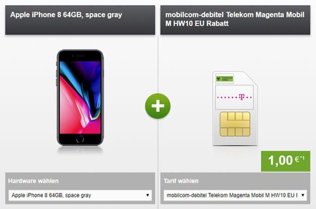 iphone 8 magenta mobil m md