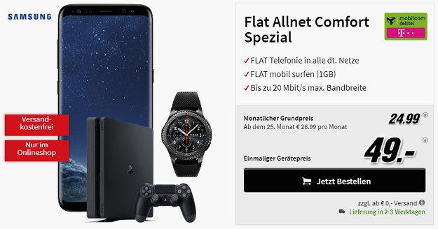 Galaxy S8 + Telekom Flat Allnet Comfort (md)