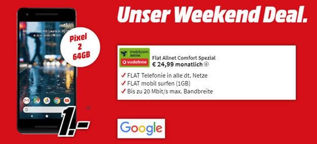 Googel Pixel 2 + Vodafone Flat Allnet Comfort