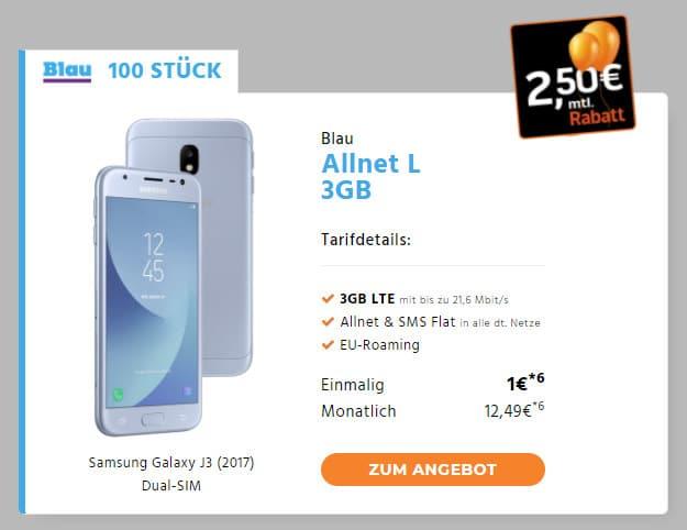 Samsung Galaxy J3 + Blau Allnet L