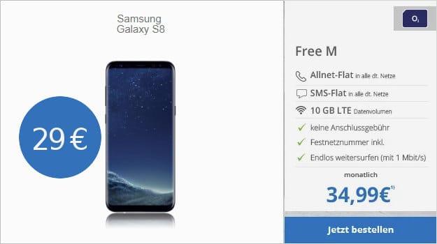 Samsung Galaxy S8 + o2 Free M modeo