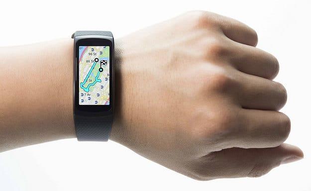 Samsung Gear Fit 2 am Arm