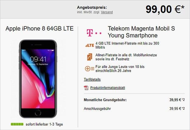 iPhone 8 + Telekom Magenta Mobil S