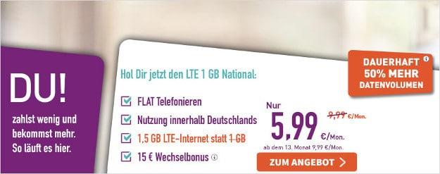 Yourfone Lte Tarife National Und International Im Vergleich
