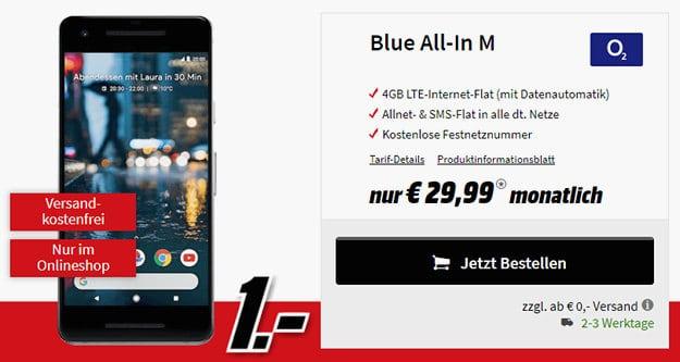 Google Pixel 2 + o2 Blue All-in M