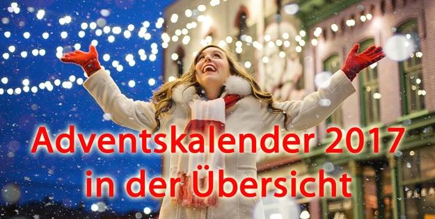Adventskalender 2017 in der Übersicht - Schnäppchen kaufen und Geld sparen
