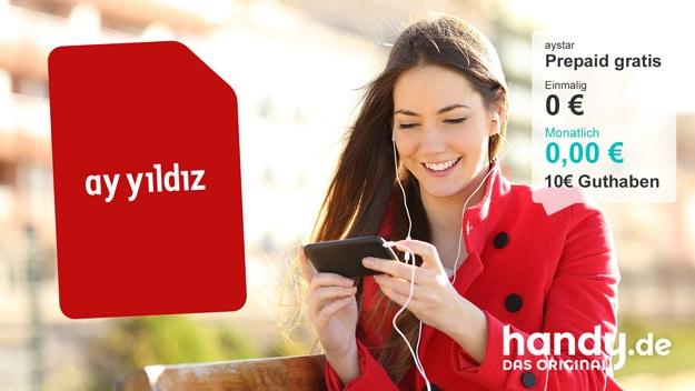 AY YILDIZ aystar Prepaid-Karte kostenlos bei handy.de