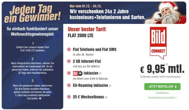 BILDconnect mit Aktion zur Flat 2000 LTE - Gewinnspiel
