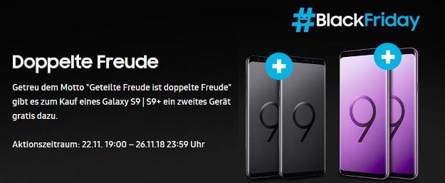 Samsung Black Friday mit Samsung Galaxy S9 / S9 Plus 256GB Deal