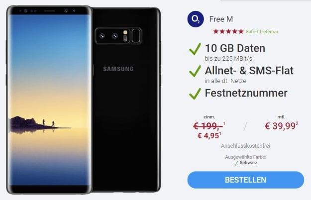 Samsung Galaxy Note 8 + o2 Free M bei Sparhandy (Ostern)
