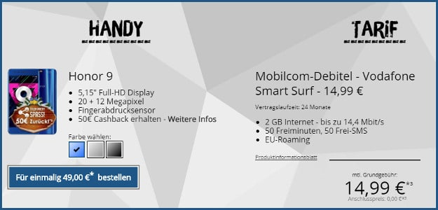 Honor 9 Vodafone Smart Surf Md Eff Kostenlos Handyhasede