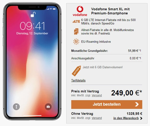 iPhone X + Vodafone Smart XL LogiTel