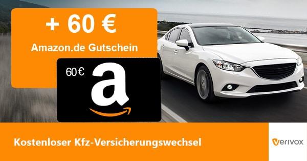 Kfz Versicherung wechseln, Handyhase-Bonus-Deal mit 60 € Amazon