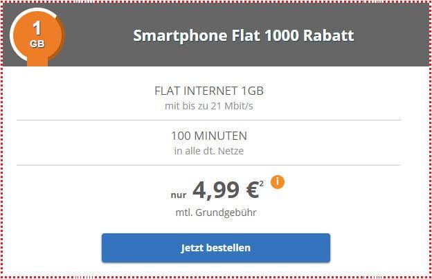 klarmobil smartphone flat 1 gb im telekom netz f r 5 99 mtl. Black Bedroom Furniture Sets. Home Design Ideas