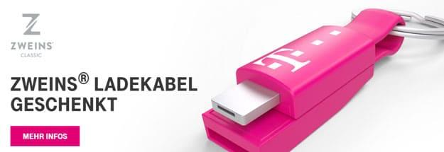 Telekom Mega Deal Zweins Ladekabel kostenlos