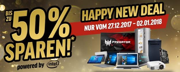 Notebooksbilliger.de mit Happy New Deals - günstig Smartphones und Tablets kaufen