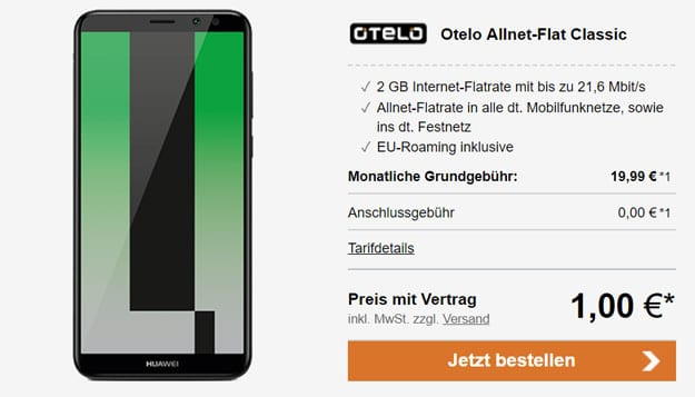 Huawei Mate 10 Lite mit otelo Allnet-Flat Classic