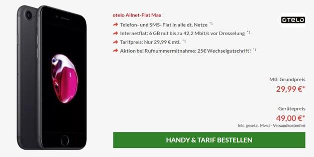 Apple iPhone 7 32GB mit otelo Allnet-Flat Max