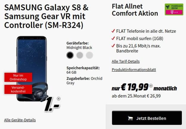 s8 + Flat Allnet comfort Telekom (md)