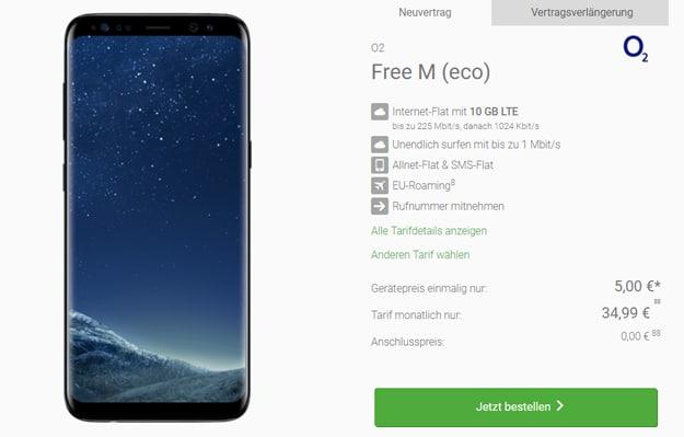 Samsung Galaxy S8 mit o2 Free M