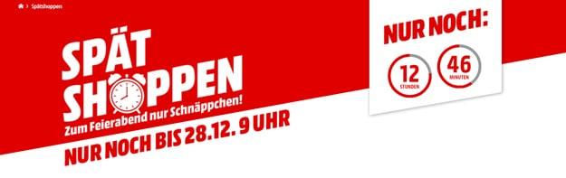 MediaMarkt Spät Shoppen Aktion