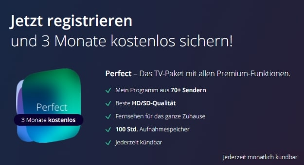 waipu.tv Perfect 3 Monate kostenlos testen