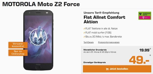 Motorola Moto Z2 Force mit Telekom-Tarif - mobilcom-debitel