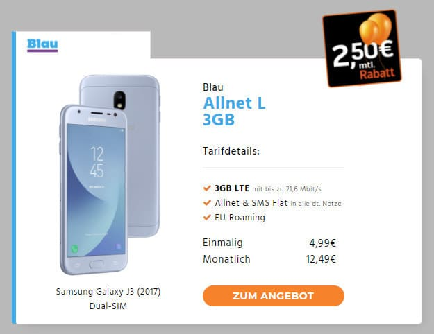 Samsung-Galaxy-J3-Blau-Allnet-L